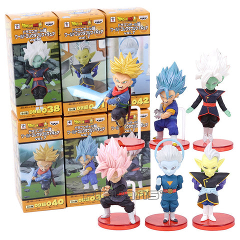 Dragon Ball Super vol.7 Trunks Vegetto Zamasu Super Saiyan Rose Goku Black Grand Priest PVC Figures Toys 6pcs