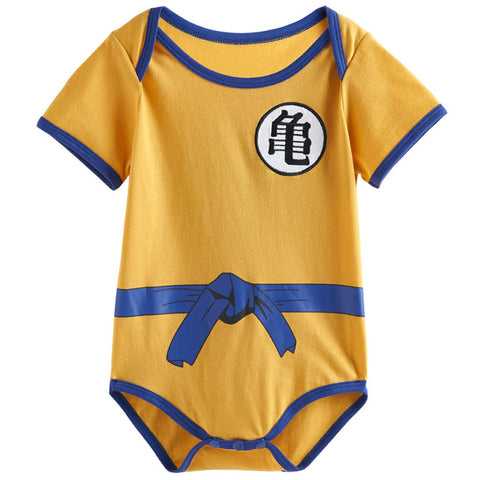 Baby Boys Dragon Ball Z Goku Costume Bodysuit Infant Vegeta Cute Playsuit 0-18 Months