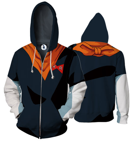 Super Saiyan Android17 3D Cloth Hoodies Sweatshirts
