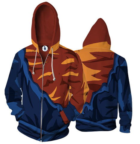 Dragon Ball Super Saiyan Goku 3D Hoodies
