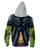 Super Saiyan Perfect Cell Zipper Hoodie Sweatshirt