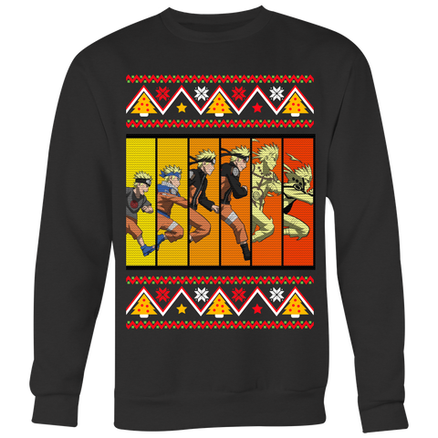 Naruto - Ninja Evolution Christmas Sweater - Unisex Sweatshirt T Shirt - TL01421SW