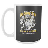 Super Saiyan I May Live in Washington 15oz Coffee Mug - TL00070M5