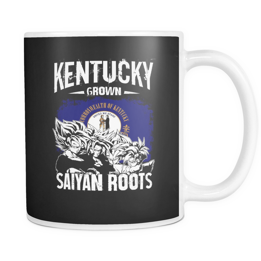 Super Saiyan Kentucky Grown Saiyan Roots 11oz Coffee Mug -TL00152M1