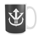 Super Saiyan - White Vegeta Saiyan Crest 15oz Coffee Mug - TL00012M5