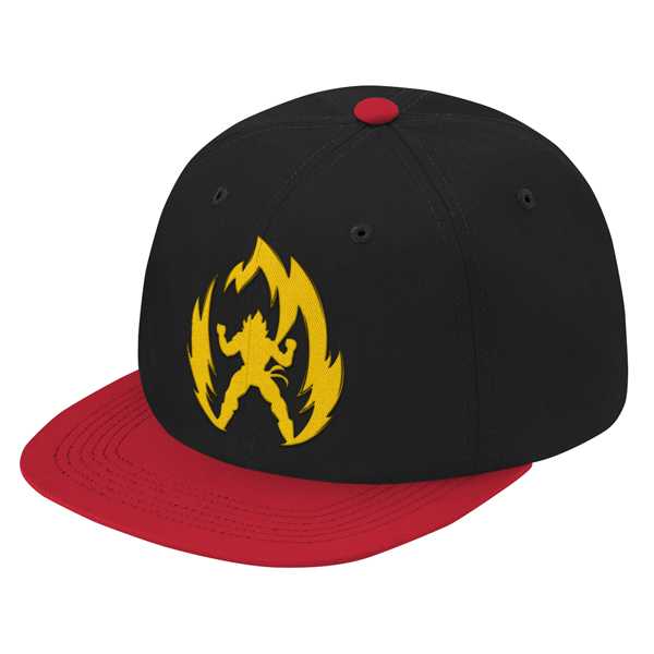 Super Saiyan Vegeta Gold Symbol Snapback - PF00291SB - The Tshirt Collection - 1