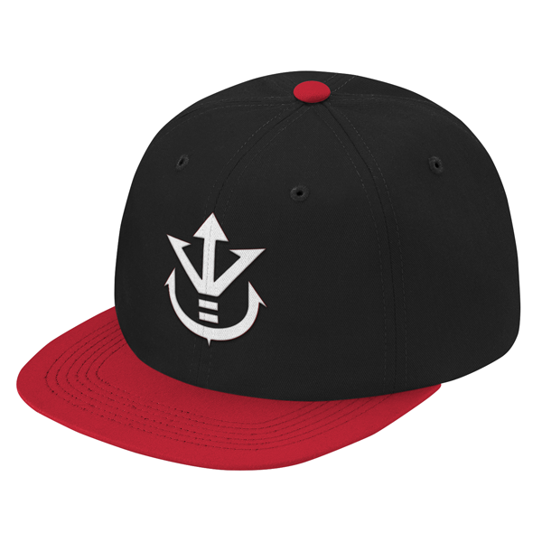 Super Saiyan White Vegeta Crest Snapback - PF00190SB - The Tshirt Collection - 1