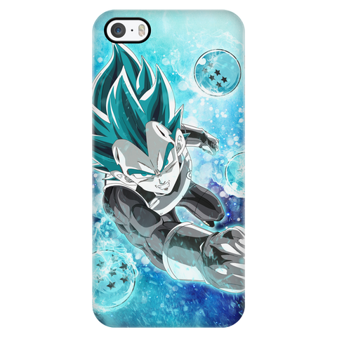 Super Saiyan - Vegeta SSj Blue with dragon balls - Iphone Phone Case - TL01180PC
