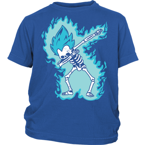 Super Saiyan - Vegeta God Dab Skeleton X Ray Costume - Youth Kid Shirt - TL01420YS