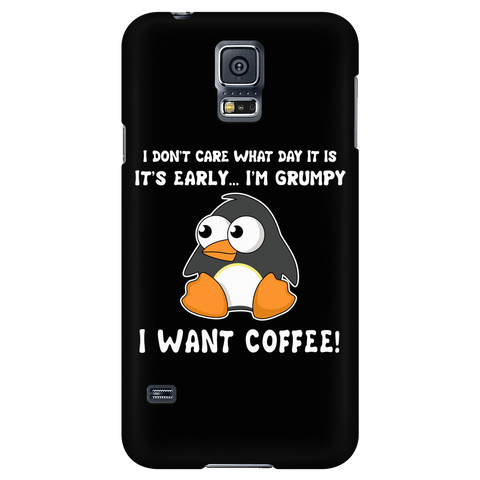 Penguin - It is early , i am grumpy I want coffee - Android Phone Case - TL01333AD