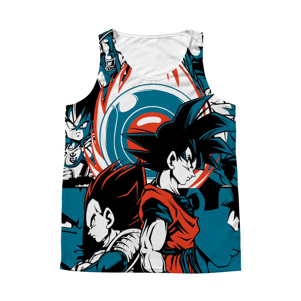 Super Saiyans Goku & Vegeta 1 Sided 3D tank top t shirt Tank - TL00419AT
