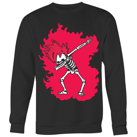 Super Saiyan - Goku God Dab Skeleton X Ray Costume - Unisex Sweat Shirt - TL01424SW