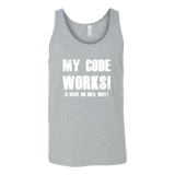 My code works i have no idea why programming Unisex Tank Top Funny T Shirt - TL00615TT
