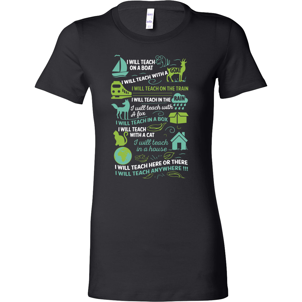 Book - I will Teach on a boat , i will teach with a goat - Woman Short Sleeve T Shirt - TL01066WS