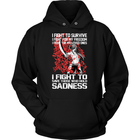 Fairy Tail - I fight to save those who hold sadness  - Unisex Hoodie - TL01373HO