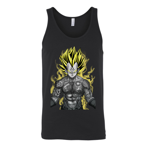 Super Saiyan  - Vegeta with tattoo  - Unisex Tank Top - TL01355TT