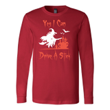 Halloween - Yes i can drive a stick - Men Long Sleeve T Shirt - TL00704LS