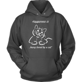 Happiness Is Being Loved By A Cat Unisex Hoodie T Shirt - TL00635HO