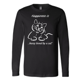 Happiness Is Being Loved By A Cat Long Sleeve T Shirt - TL00635LS