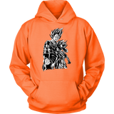 Super Saiyan Majin Vegeta and Trunks Unisex Hoodie T shirt - TL00218HO