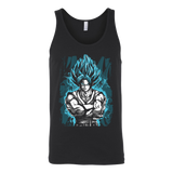 Super Saiyan - SSJ Vegito God Blue - Unisex Tank Top T Shirt - TL00897TT