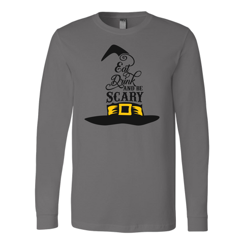 Eat, drink and be scary Long Sleeve Halloween T Shirt - TL00654LS - The TShirt Collection