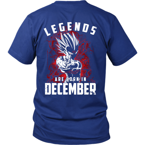Super Saiyan - Lengends all born in december - Men Short Sleeve T Shirt - TL01029SS