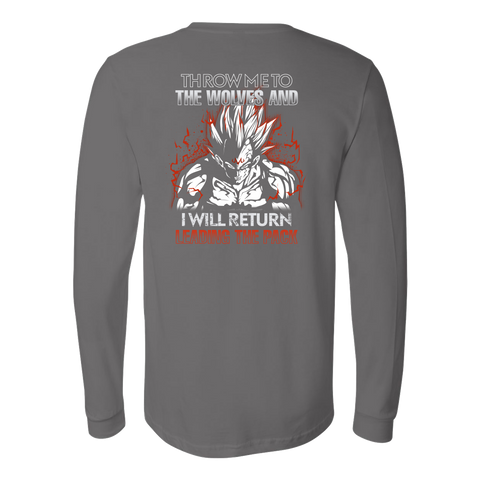 Super Saiyan - Majin Vegeta I will return - Unisex Long Sleeve T Shirt - TL01294LS