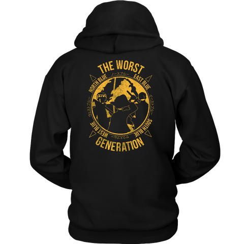 One Piece - The Worst Generation - Unisex Hoodie T Shirt - TL01099HO