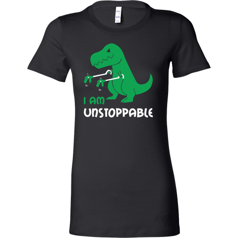 Dinosaur - I am unstoppable - Woman Short Sleeve T Shirt - TL00845WS - The TShirt Collection