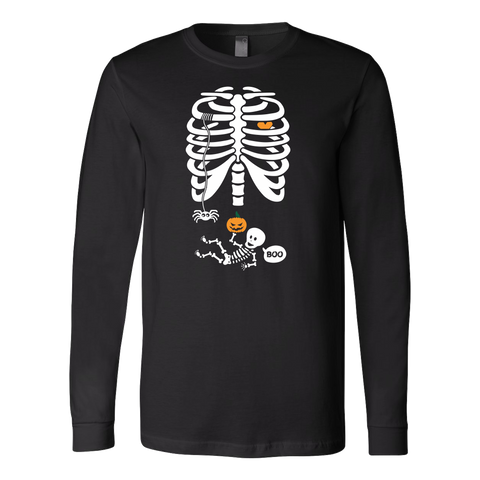 Halloween - Bones Boo - Men Long Sleeve T Shirt - TL00699LS