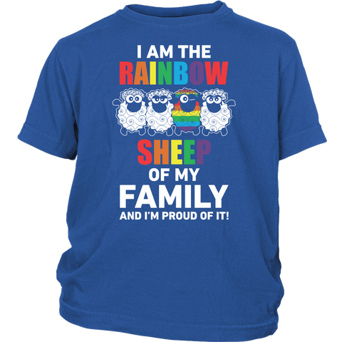 LGBT- I am the rainbow sheep - Youth Kid T Shirt - TL00985YS