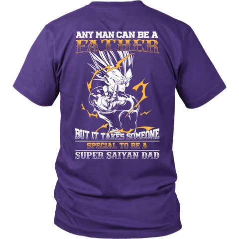 Super Saiyan - It takes someone special to be a super saiyan dad - Back - Men Short Sleeve T Shirt - TL01351SS