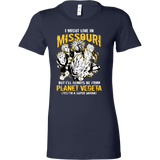 Super Saiyan I May Live in Missouri Woman Short Sleeve T shirt - TL00074WS