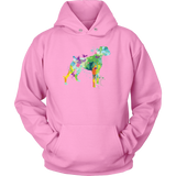 Pet - Watercolor Love Dog Paint - Unisex Hoodie T Shirt - TL00754HO