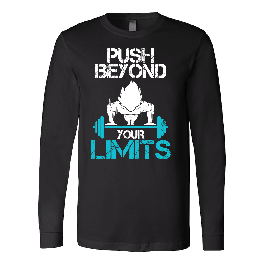 Super Saiyan Goku Push Beyond Your Limits Long Sleeve T shirt - TL00527LS