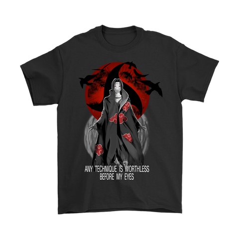 Naruto - Any Technique is worthless before my eyes -Men Short Sleeve T Shirt-TL01374SS - 5XL