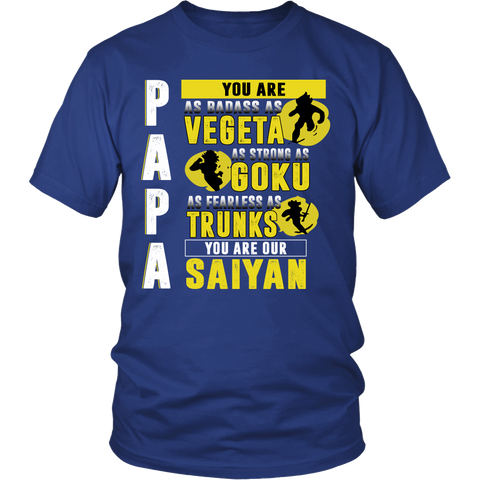Super Saiyan Shirt - Papa you are our saiyan - Men Short Sleeve T Shirt - TL01358SS