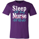 Nurse- sleep all day nurse all night -men short sleeve t shirt-TL00870SS
