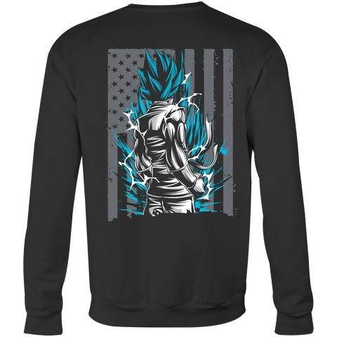 American Super Saiyan God Blue Goku Sweatshirt T shirt - TL00002SW - The TShirt Collection