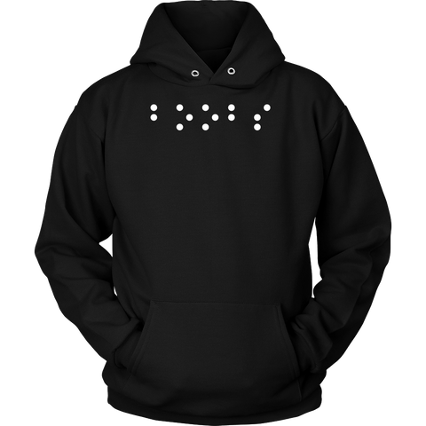 Boobs in Braille Funny Unisex Hoodie T Shirt - TL00685HO - The TShirt Collection