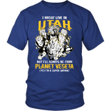 Super Saiyan - I May Live in Utah - Men Short Sleeve T Shirt - TL00091SS