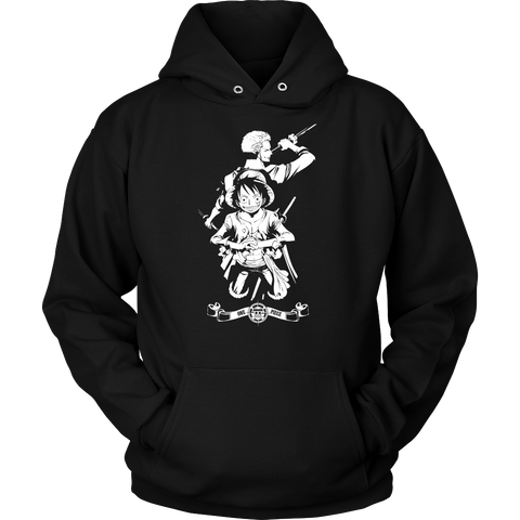 One Piece - Luffy and Zoro - Unisex Hoodie T Shirt - TL01057HO