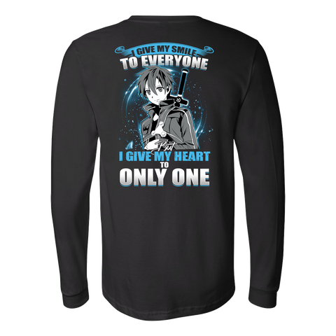 SAO Sword Art Online - Kirito smiles - Unisex Long Sleeve T Shirt - TL01181LS