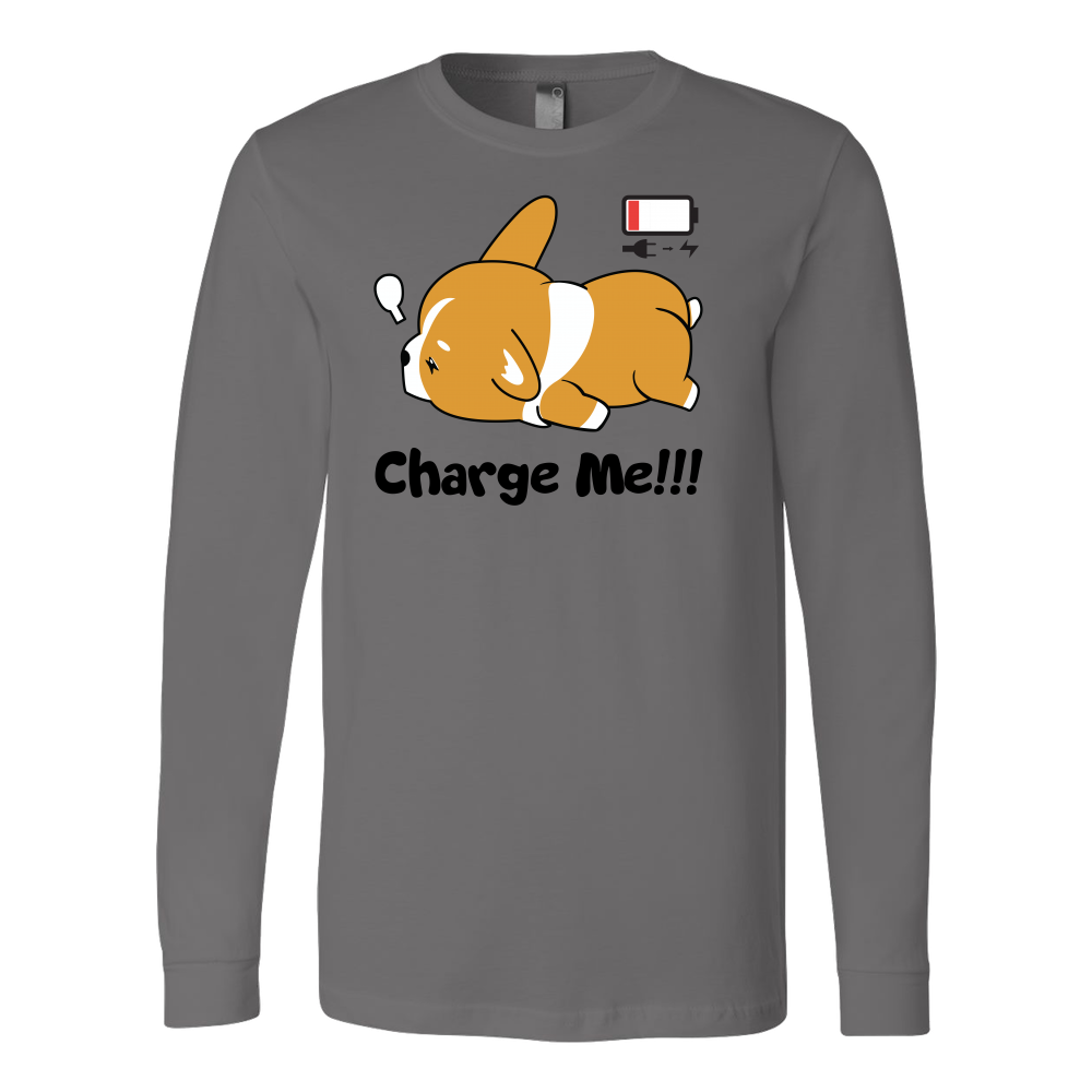Pet - Immortal Unisex Corgi Cute Puppy Low Battery Funny - Long Sleeve T Shirt - TL00825LS