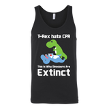 Dinosaur - T-Rex hate CPR, This is Why Dinosaurs Are Extinct - Unisex Tank Top T Shirt - TL00862TT - The TShirt Collection