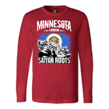 Super Saiyan Minnesota Growns Saiyan Roots Long Sleeve T shirt - TL00158LS