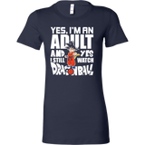 Super Saiyan- yes i m an adult and yes i still watch dragonball - Women short sleeve t shirt - TL00999WS