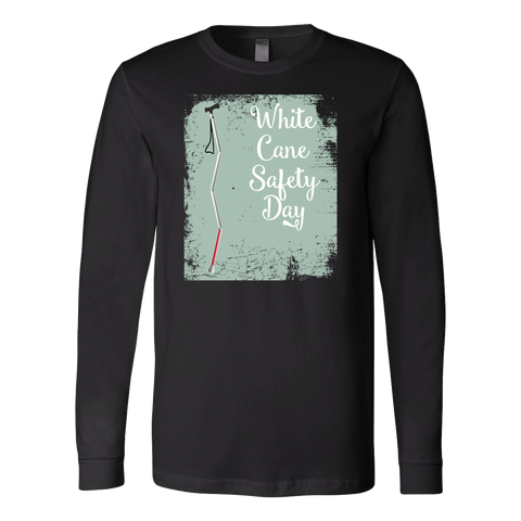 White Cane Safety Day Long Sleeve T Shirt - TL00696LS