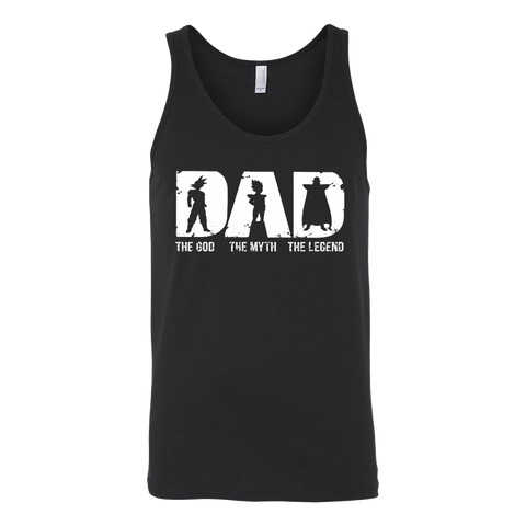 Super Saiyan -Dad the god the myth the legend  - Unisex Tank Top - TL01363TT
